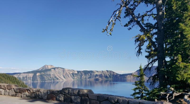 Lago Oregon crater fotografia de stock royalty free