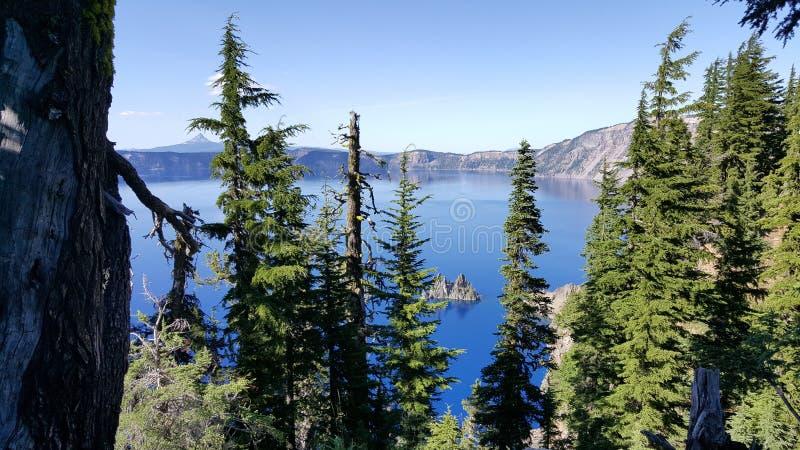Lago Oregon crater imagens de stock