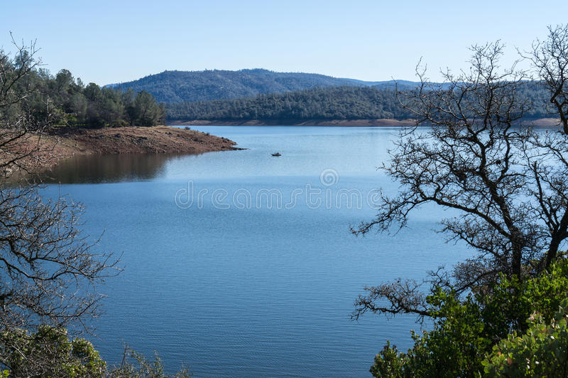 Lago Oroville imagem de stock
