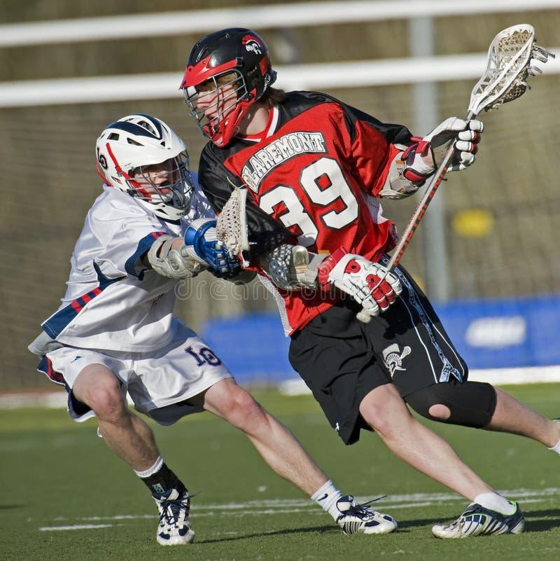 Lago Oswego V Claremont Lacrosse fotografia de stock royalty free