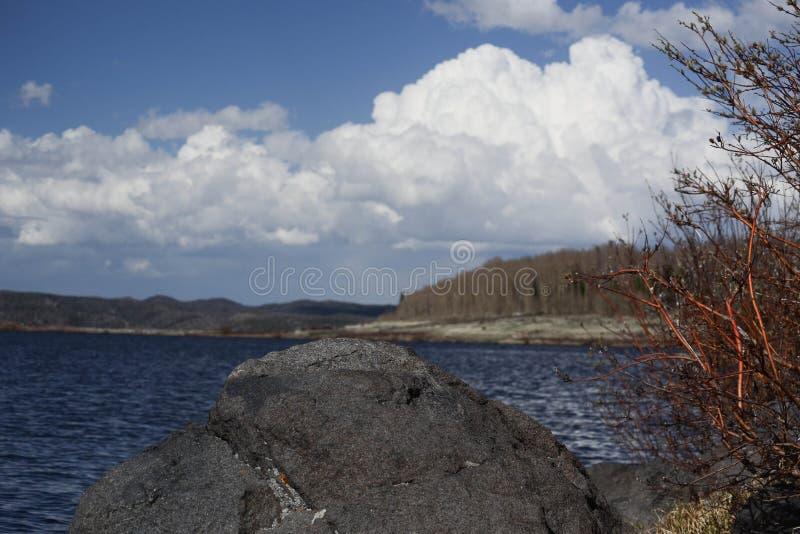 Lago Owen nelle montagne della gamma di Snowy, Wyoming fotografie stock