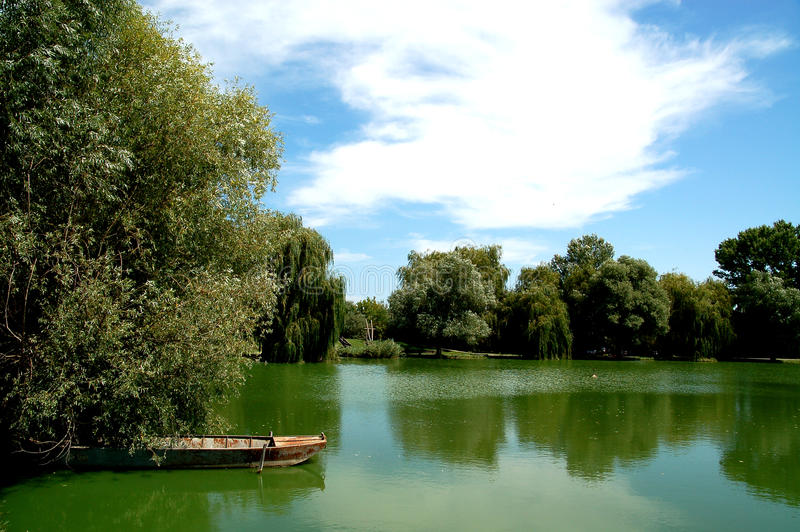 Lago Oxbow fotografie stock