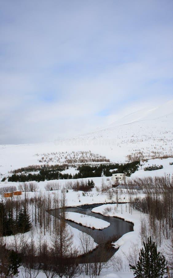 Lago Oxbow perto de Húsavík - retrato imagens de stock royalty free