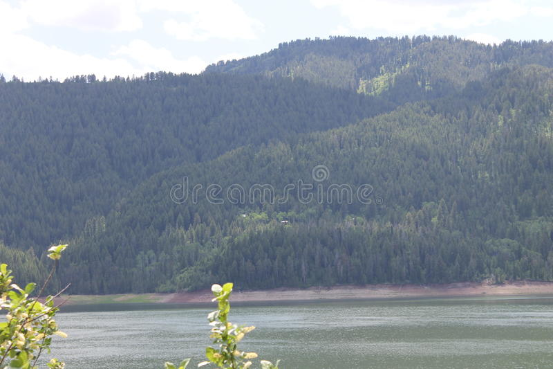 Lago palisades fotografia stock