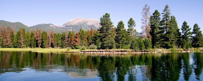 Lago Panarama mountain fotografie stock