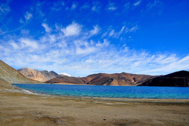 Lago Pangong imágenes de archivo libres de regalías