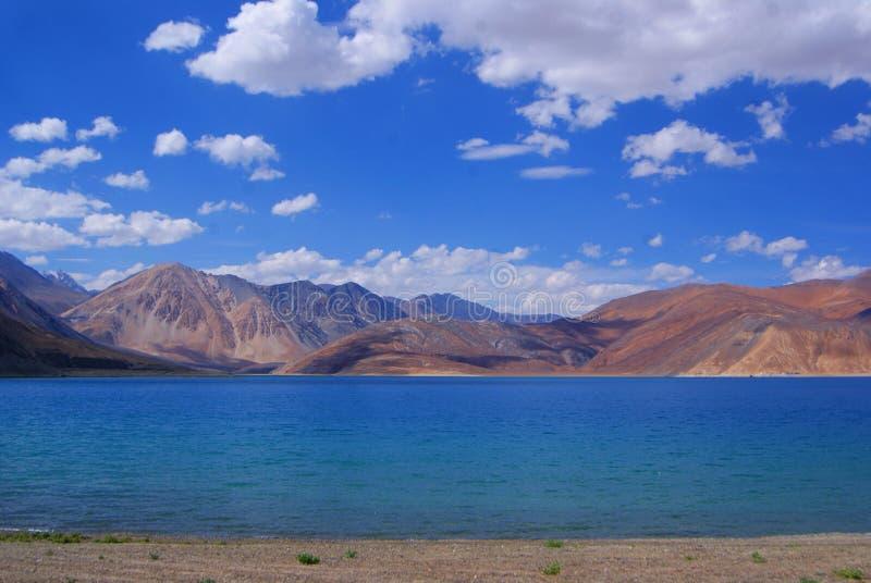 Lago Pangong fotografie stock