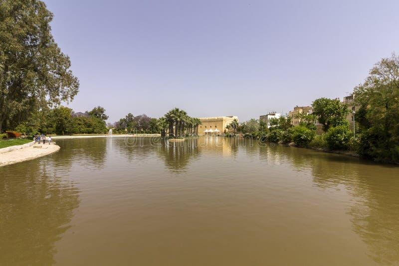 Lago panorâmico de Jnan Sbil, Bou Jeloud Gardens, no fez imagens de stock