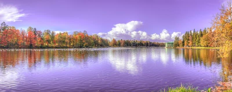 Lago panorama fotografie stock