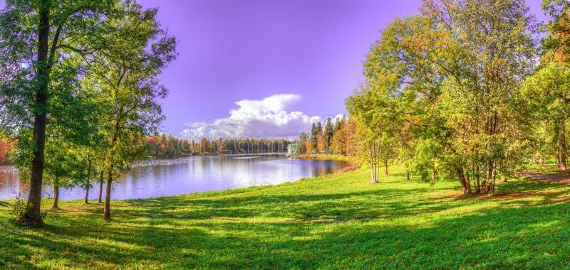 Lago panorama fotografia stock