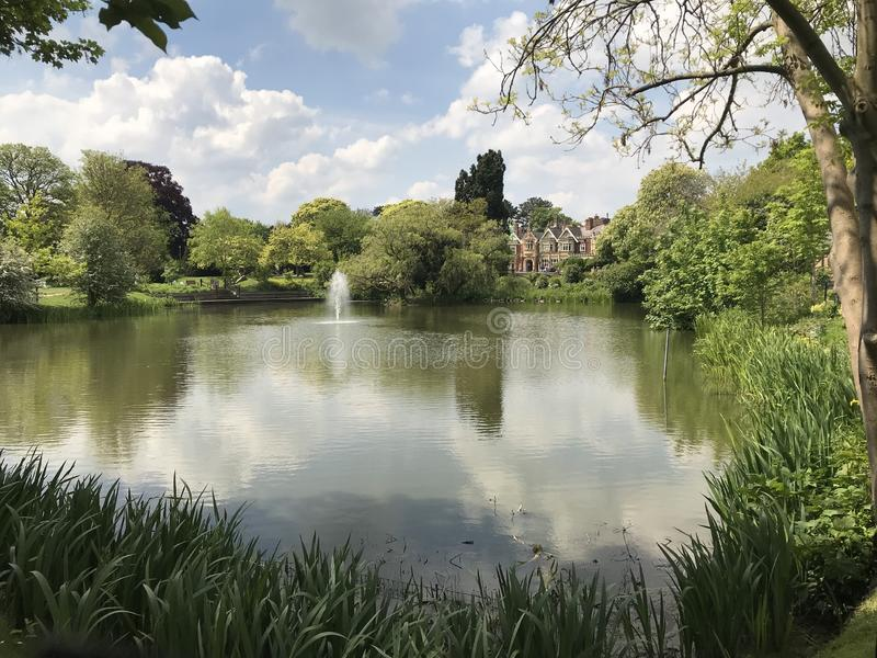 Lago park de Bletchley fotos de stock royalty free