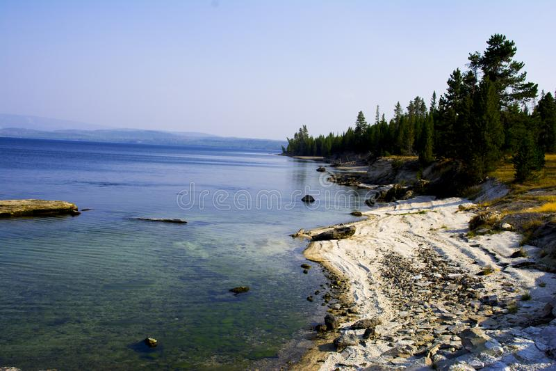 Lago 1 park nacional de Yellowstone foto de archivo
