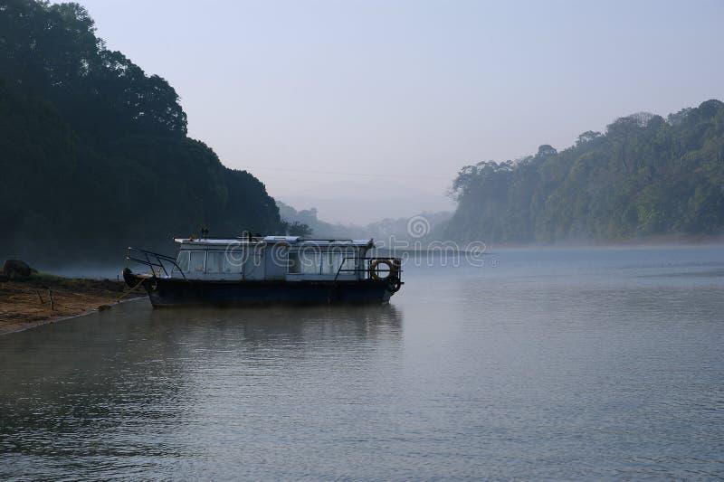 Lago, parque nacional de Periyar, Kerala, Índia imagens de stock