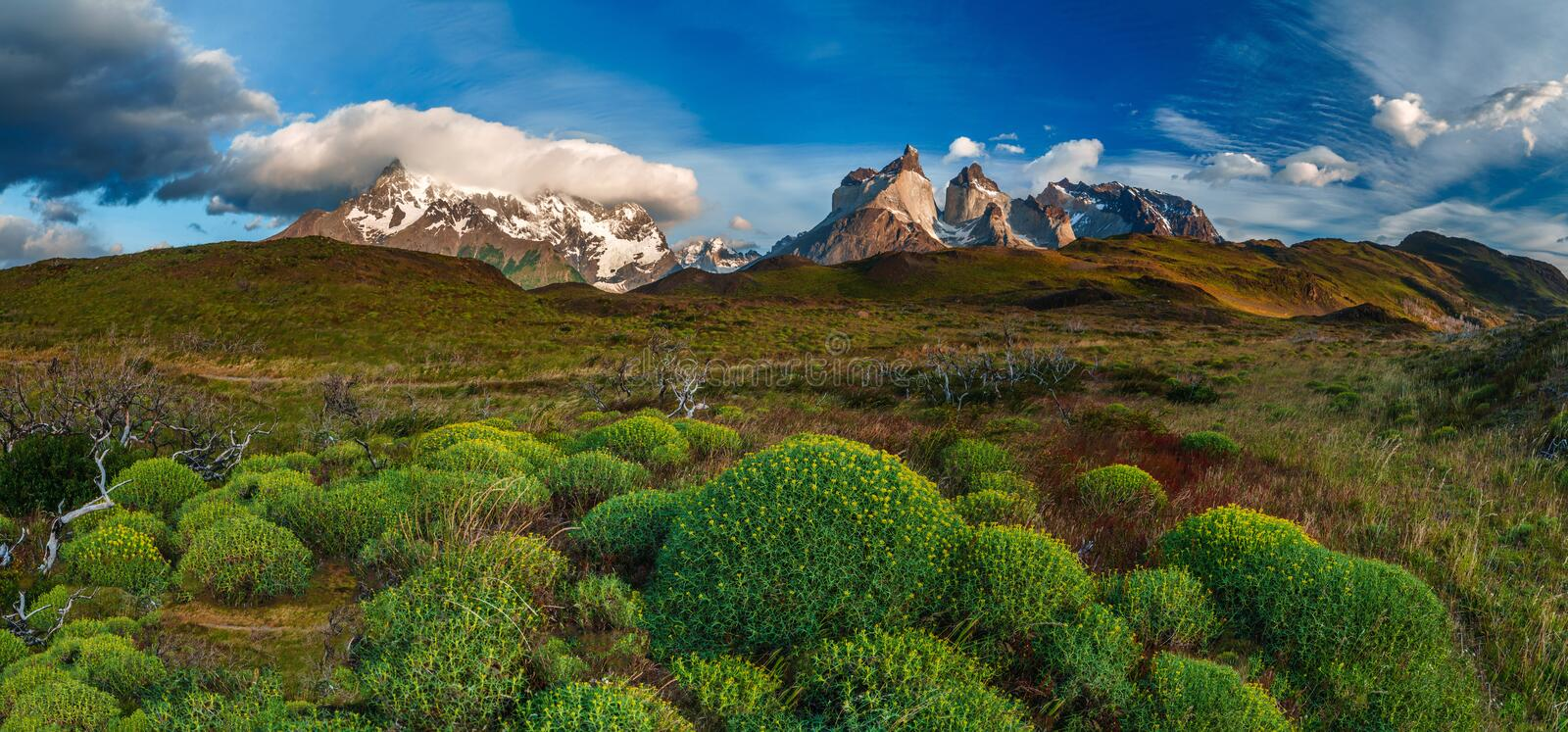 Lago Pehoe, National Park Torres del Paine in royalty free stock photos