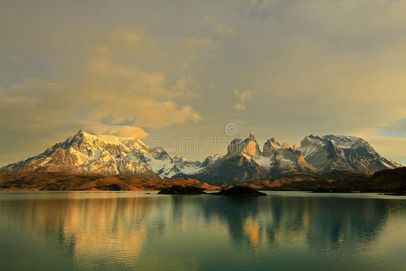 Lago Pehoe, Torres del Paine royalty-vrije stock foto