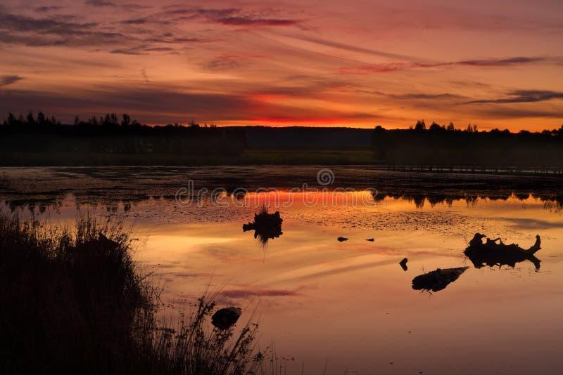 Lago Penrith Duralia di tramonto fotografie stock