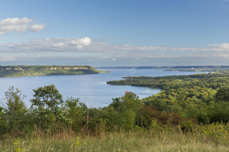 Lago Pepin Scenic mississippi River fotos de archivo libres de regalías