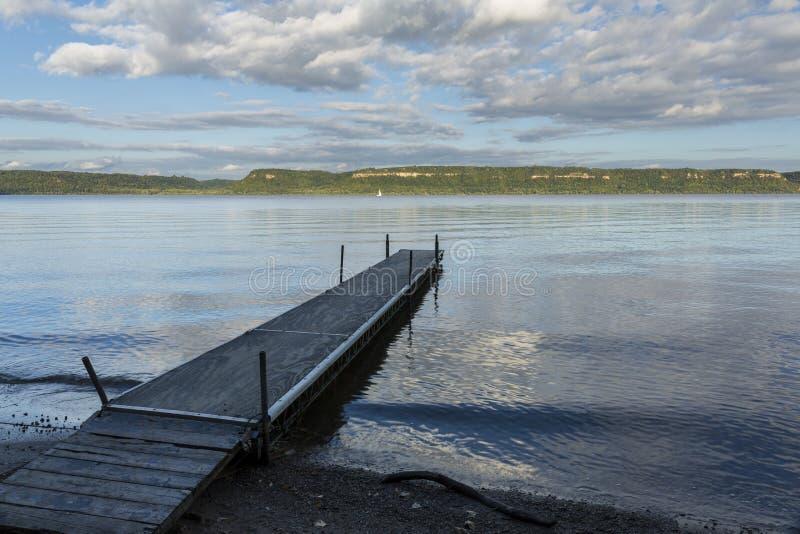 Lago Pepin Scenic mississippi River imagenes de archivo