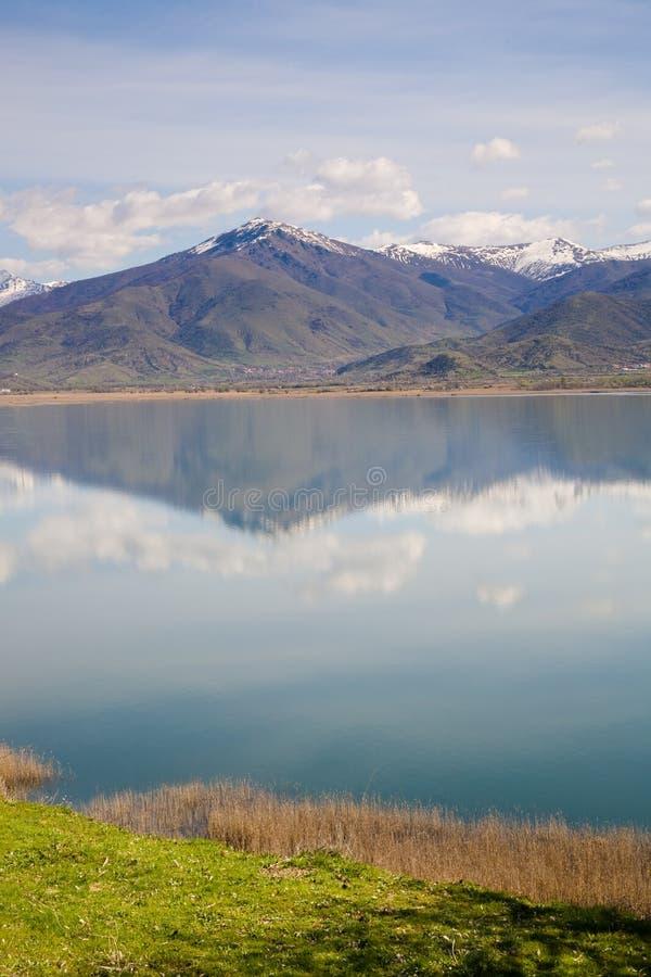 Lago pequeno Prespa, Greece fotos de stock royalty free