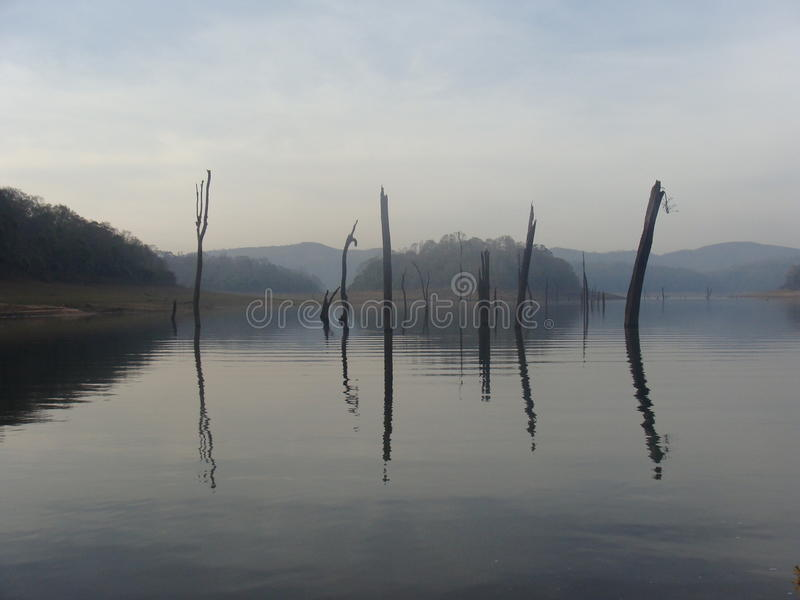 Lago Periyar fotografía de archivo libre de regalías