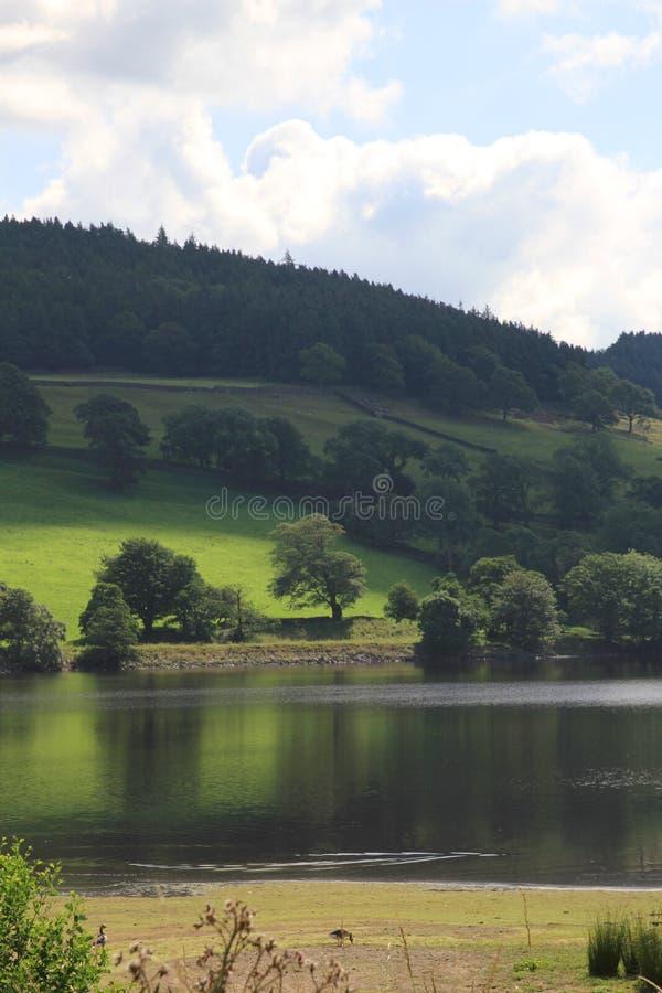 Lago perto da ponte North Yorkshire de Pately fotografia de stock royalty free