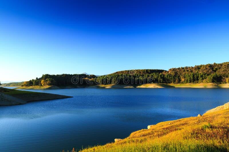 Lago Pertusillo immagini stock libere da diritti