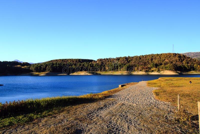 Lago Pertusillo immagine stock