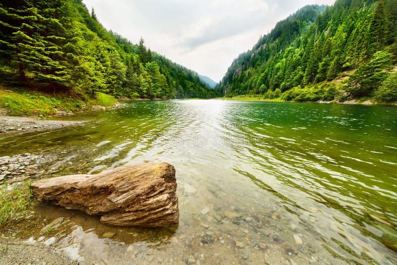 Lago Petrimanu em Romania fotografia de stock royalty free