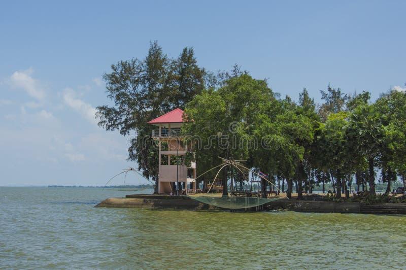 Lago Phatthalung Tailandia Lampam fotos de archivo