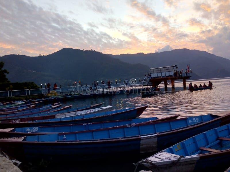 Lago Phewa fotos de archivo libres de regalías