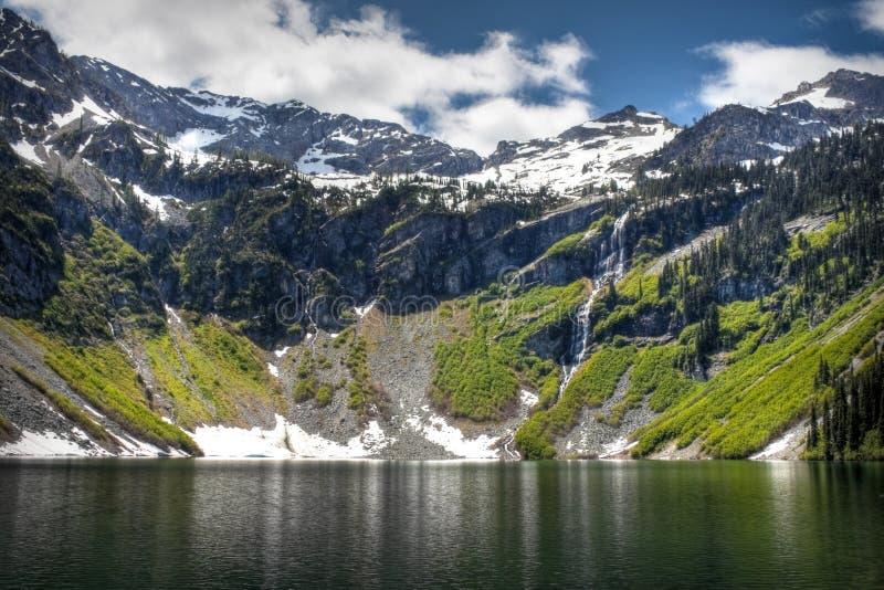 Lago piovoso fotografia stock