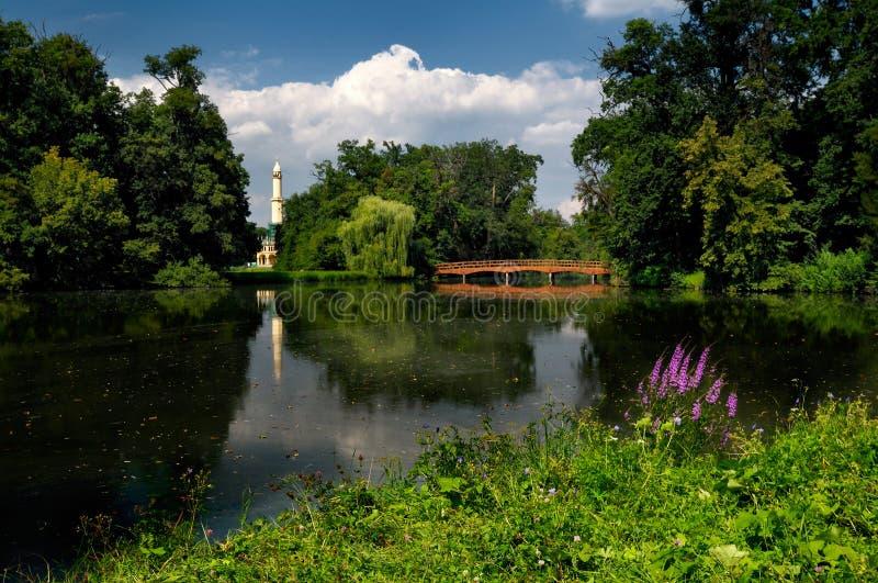 Lago pitoresco no parque fotografia de stock royalty free