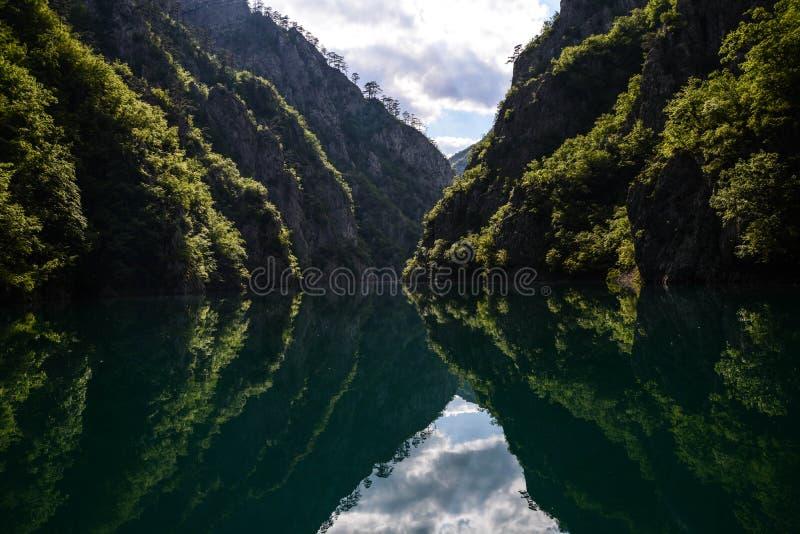 Lago Piva fotografia de stock