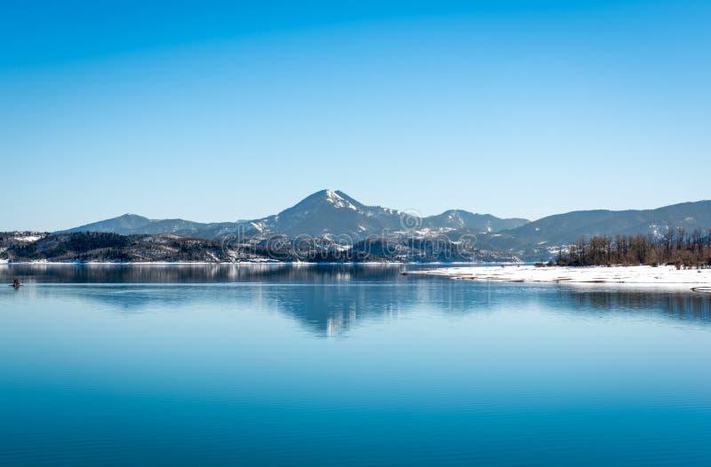 Lago Plastira el invierno imagenes de archivo