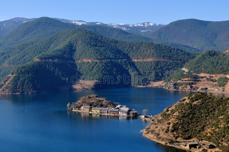 Lago plateau fotografia stock libera da diritti