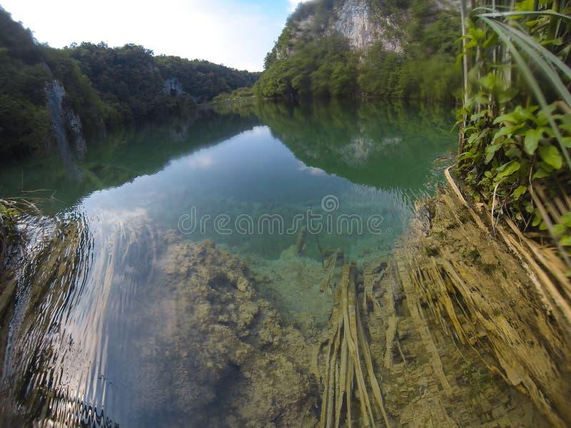 Lago Plitvice, Croazia ad estate immagini stock libere da diritti