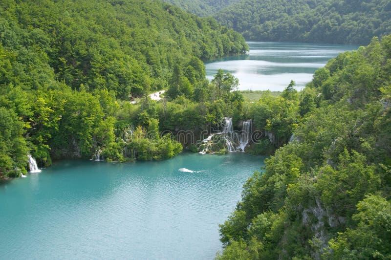 Lago Plitvice (jezera) di Plitvicka Croatia fotografia stock