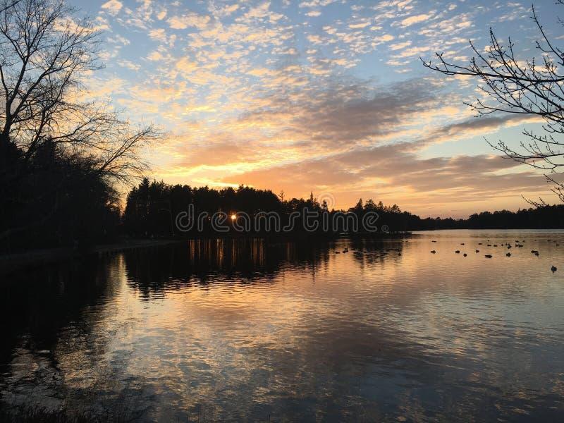 Lago postcard fotografía de archivo libre de regalías
