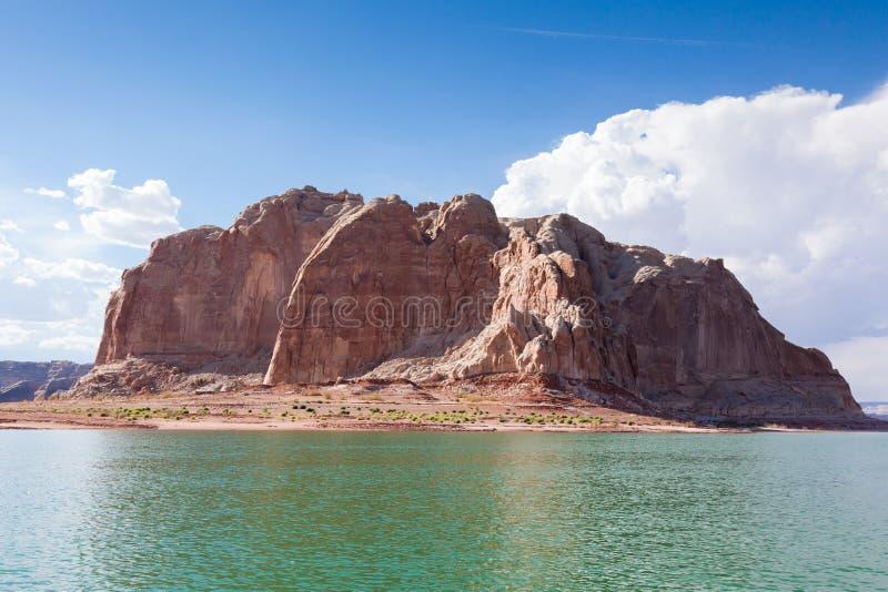Lago Powell, in canyon della valletta nell'Utah ed in Arizona fotografie stock libere da diritti
