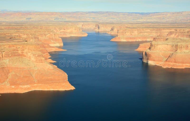 Lago Powell del aire imagen de archivo