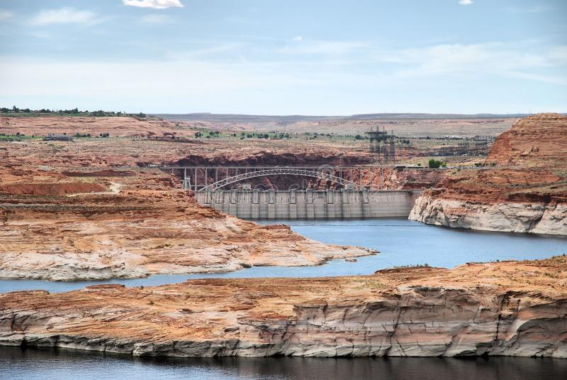 Lago Powell e o Colorado foto de stock royalty free