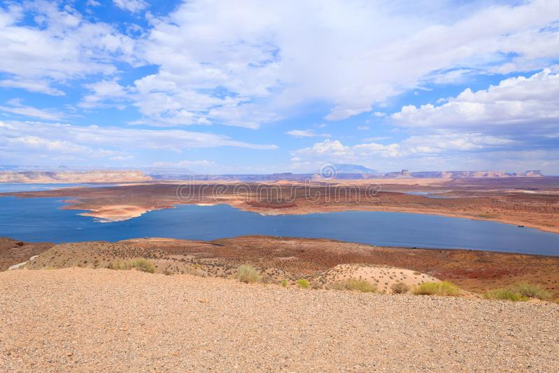 Lago Powell Panorama imagens de stock royalty free