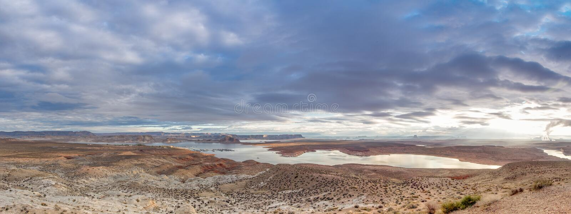 Lago Powell Panorama fotos de archivo
