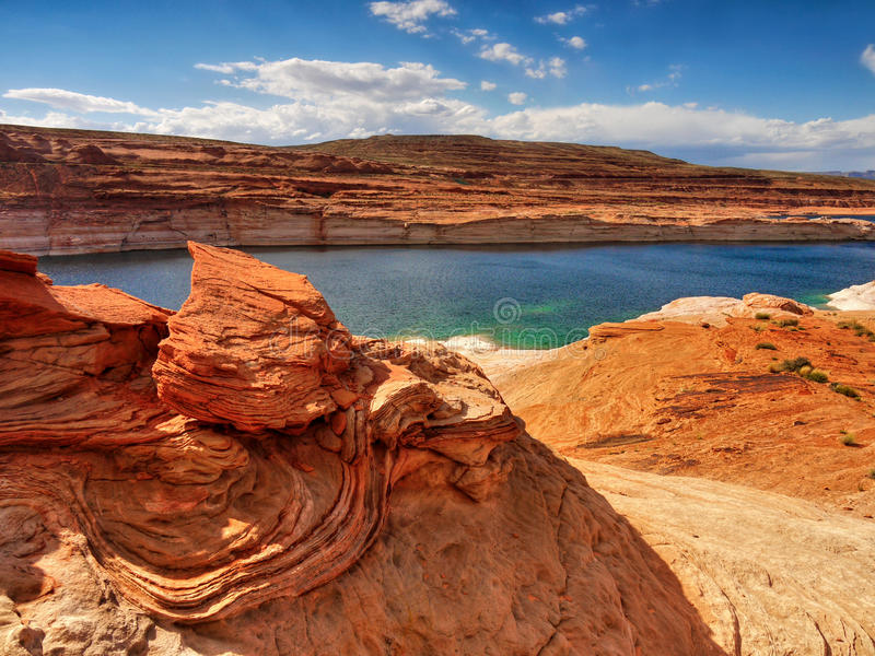 Lago Powell, Utah - Arizona fotografia stock