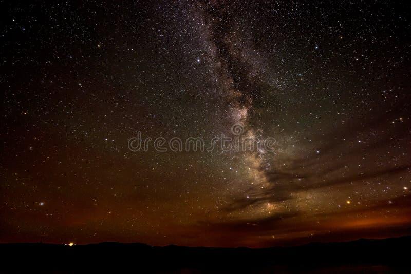Lago Powell Utah milky Way imagen de archivo