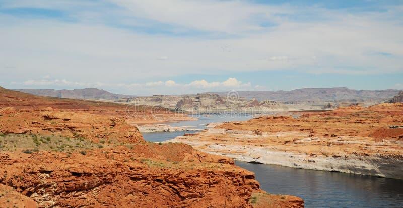Lago Powell y el Colorado foto de archivo