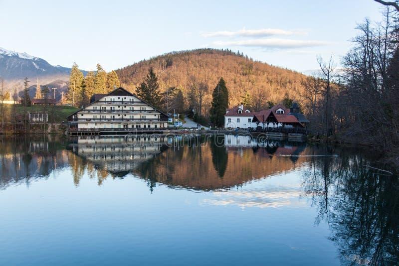 Lago in Preddvor fotografia stock