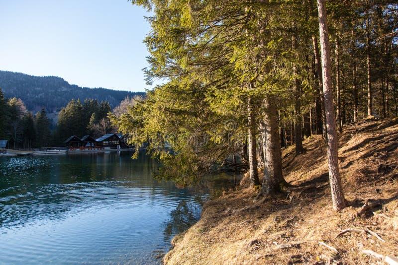 Lago in Preddvor fotografie stock