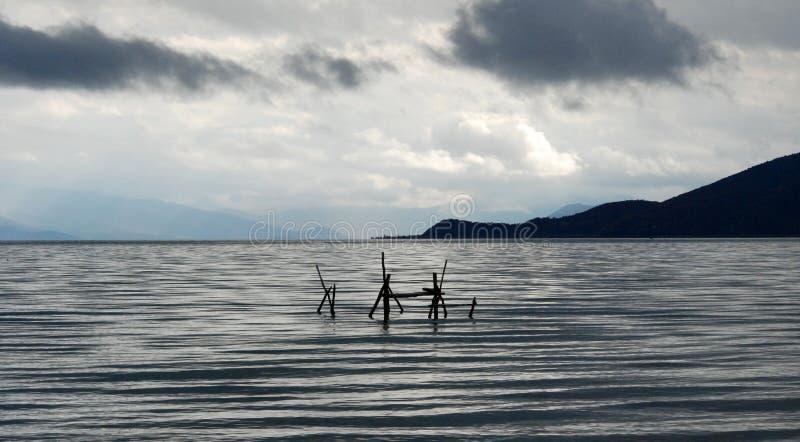 Lago Prespa imagem de stock royalty free