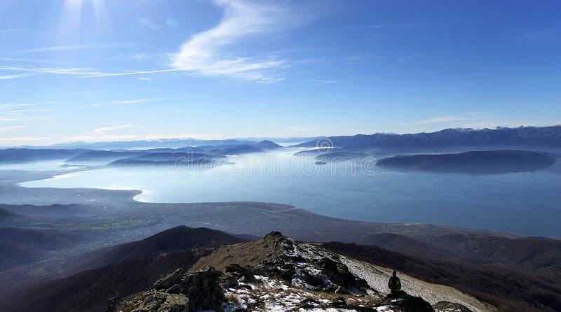 Lago Prespa, Macedônia foto de stock royalty free